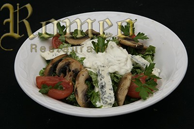 LETTUCE SALAD WITH CHEESE SAUCE
